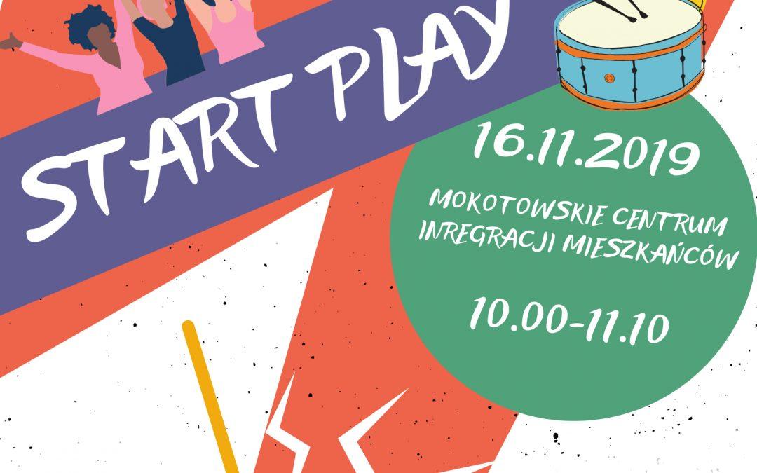 """Start Play, tworzymy """"śmieciową"""" perkusję, warsztaty dla dzieci 5-10 lat z opiekunami"""