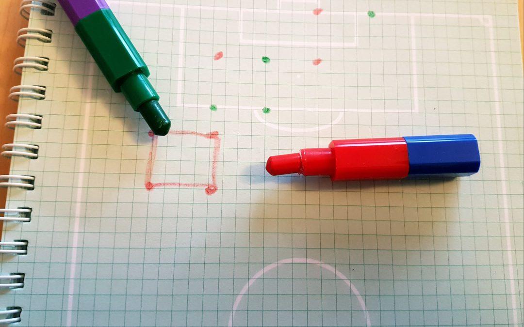 Nowe gry matematyczne: KARTKA W KRATKĘ I KREDKI, warsztaty dla dzieci 4-6 lat ONLINE