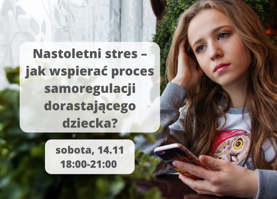 Nastoletni stres – jak wspierać proces samoregulacji dorastającego dziecka?