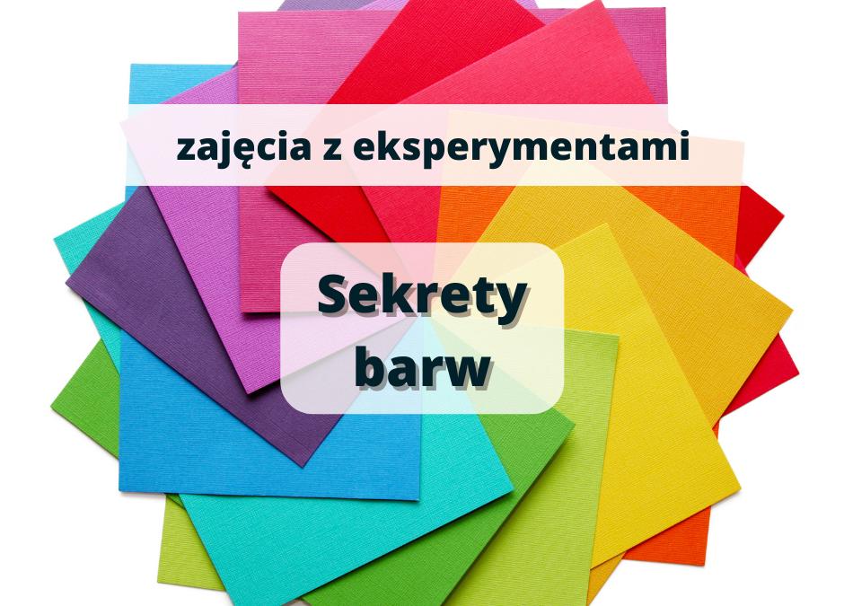 wtorki z eksperymentami: SEKRETY BARW, zajęcia dla dzieci 6-10 lat